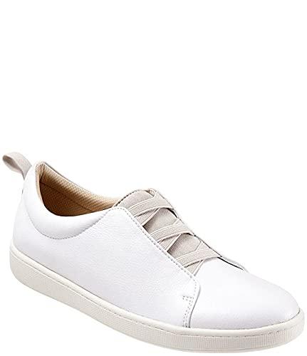 [トロッターズ] シューズ 25.0 cm スリッポン・ローファー Avrille Leather Slip-On Sneakers White レディース [並行輸入品]