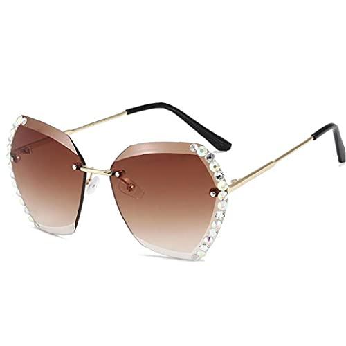 Froiny Moda De Gran Tamaño Sin Montura De Gafas De De Gafas De Lujo De La Vendimia De Mujeres del Diseño De Marca Atractivas Gafas De Cuadradas del Diamante para La Hembra