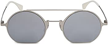 Fendi Eyeline Silver Mirror Round Ladies Sunglasses (FF 0291/S 010/DC 48)