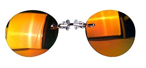 Nasenkneifer Sonnenbrille/Zwickel in verschiedenen Farben (One Size, rot verspiegelt)