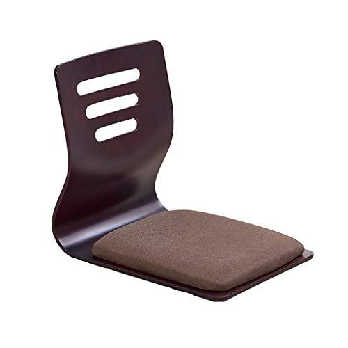 Xwz94 Hocker aus massivem Holz Bodenstuhl Stuhl ohne Bein Japanischer Stuhl ohne Bein S-Typ Rückenlehne Stuhl Bay-Fenster Sitz Spielstuhl Niedriger Tisch und Stuhl (Farbe : B)