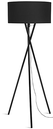 It's about RoMi HAMPTON Lampadaire, Fer, E27, 60 W, Noir