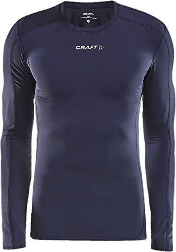 Craft Pro Cool T-shirt de course à pied à manches longues pour enfant Bleu marine 9-10 ans