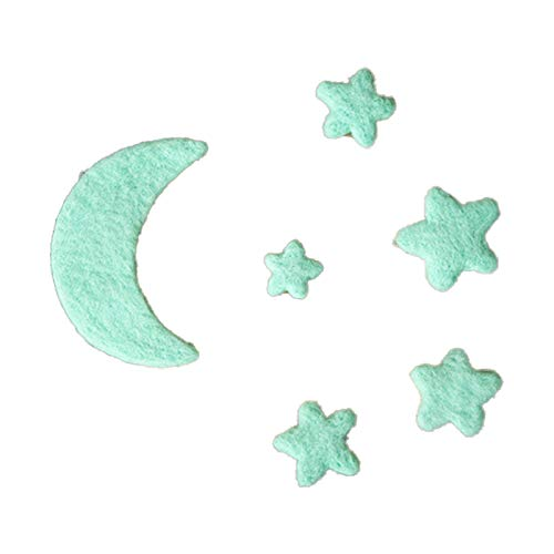 S-TROUBLE Accesorios de fotografía para bebés recién Nacidos Fieltro de Lana Mini Estrellas de Luna Decoraciones para fotografías Infantiles Accesorios