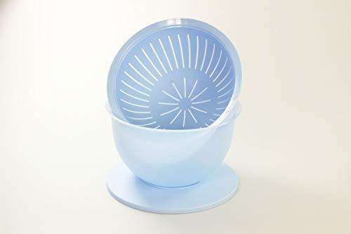 Tupperware Junge Welle Schüssel 4,3 L + Sieb hellblau Servieren Schale