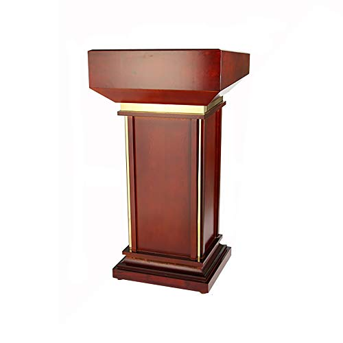 TnSok Stehendes Podium 110cm Holz Stehen Podium Mit Schublade Und A Öffnen Cabient for Office Katheder Speech Kirche (Color : Brown, Size : 113x60x49cm)