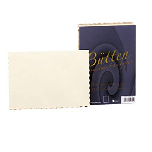Rössler 20251930 - Bütten - Einzelkarte A6, 50 Stück, ivory