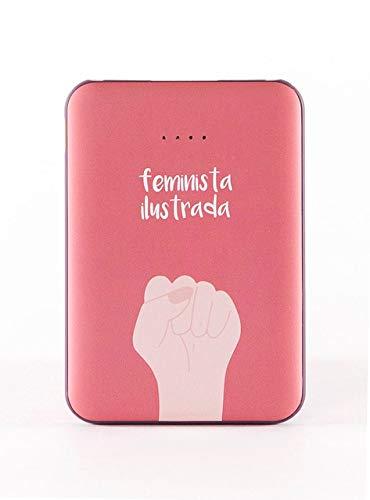 Bateria Externa portatil para movil, Power Bank 5.000 mAh, GRL PWR Feminista Ilustrada