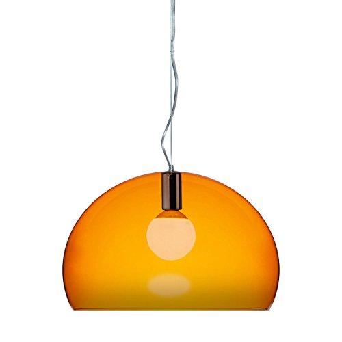 Kartell FL/Y Icon Pendelleuchte, orange transparent Ø52cm