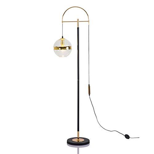 WYZ staande lamp kroonluchter, glas goud staande lamp woonkamer salontafel studie slaapkamer bedlampje designer Villa vloerlamp [energieklasse A ++]