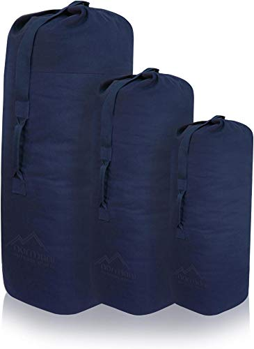 normani US Canvas-Baumwolle Seesack Duffle Bag Classic Sea Farbe Navy Größe 125 x 75 cm
