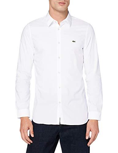 Lacoste Herren Ch2668 Hemd, Weiß, 38