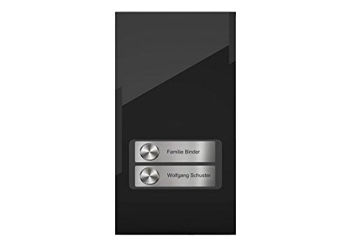 DoorLine Pro Exclusive Schwarz Türsprechanlage, Klingel, Türöffner anschließbar, Zugangskontrolle über PIN-Code, Touchscreen, Haustelefon und Handy als Gegensprechanlage, Anschluss a/b 2-Draht