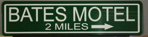 Lotusworld Metallschild mit Bates-Motel, Bar Garage Man Cave, Horror-Film, Psycho