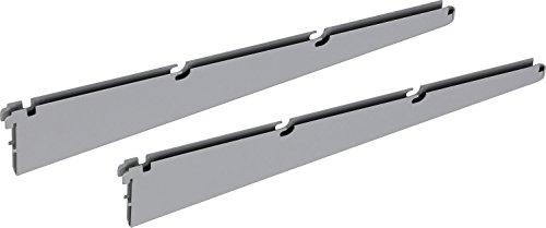 IB-Style - Regalsystem EASY TWIN Drahtbodenträger | Pro Stück | silbermatt | 420 mm | Made in Germany | TÜV geprüft | GS Zeichen | Drahtboden Drahtbodenträger Drahtgitterfachboden Drahtkorb Flaschenkorb