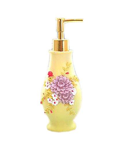 Corps de style européen crème bouteilles de gel douche bouteilles/Container, Daisy jaune