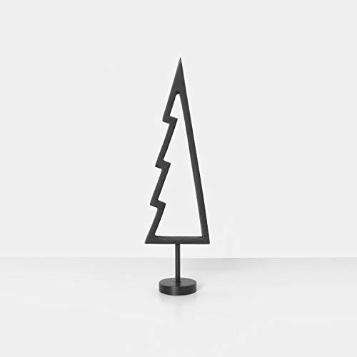 Ferm Living Weihnachtsbaum, Metall, Schwarz, 4,6x18,5cm