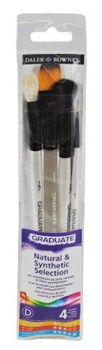 Daler Rowney Graduate Set van 4 natuurlijke en synthetische penselen