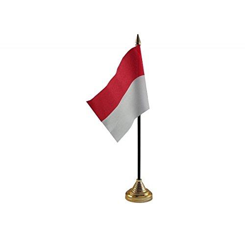 Pack van 3 Indonesië Indonesische Desktop Tafel Middenstuk Vlag Vlaggen Met Gouden Bases Ideaal Voor Party Conferences Kantoorscherm