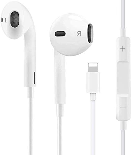 Sushelp Headphones Wired Stereo Sound Earbuds Earphones for iPhone with Microphone and Volume product image
