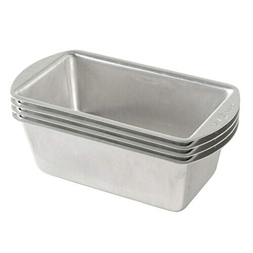 3155 – Natural Aluminum Commercial Mini Loaf Pans, Four 2-Cup Pans – tknordicware