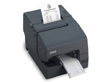 Epson C31CB25024 TM-H6000IV Multifunction Printer, 9 Pin, MICR and Endorsement, Serial and USB Interfaces, Without PS-180, Dark Gray