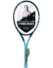Raquetas De Tenis Profesional Traje De Carbono para Hombres Y Mujeres Integral Nuevo Tipo De Marco De Raqueta (Color : Blue-B, Size : 27in)