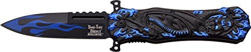 Dark Side Blades Taschenmesser Blue Black Dragon Claw, Klingenlänge: 8,89 cm, DS-A049BL