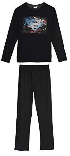 Superman Herren Lang Pyjama Schlafanzug