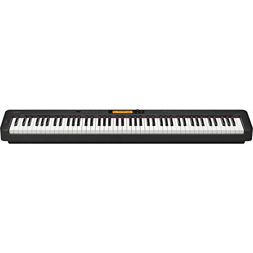 Casio CDP-S350 88-Key Compact Digital Piano (Black), Bundle with Bench, Stand, Sustain Pedal and H&A Studio Headphones