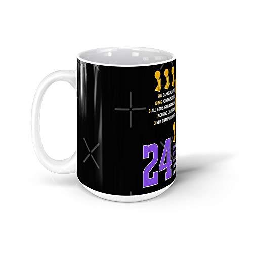 calanaram Kobe Bryant 8 24 Retired Jersey Score Black Mamba Mentality Tee Shirt Tshirt Mug Canvas Poster kobe bryant jersey 15Oz Ceramic Coffee Mugs 10887020636771