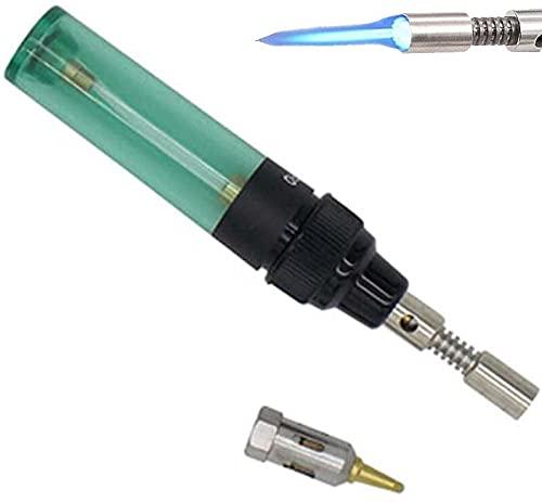Kit de soldador, 4 en 1 kit de soldador portátil, pistola de soplado de gas sin cable, gas butano, pistola de soplado eléctrica, gases recargables, kit de pluma de soldadura (1 unidad)