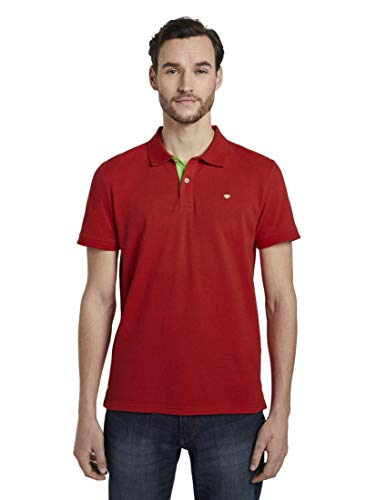 TOM TAILOR Herren Poloshirts Basic Poloshirt Brilliant red,L