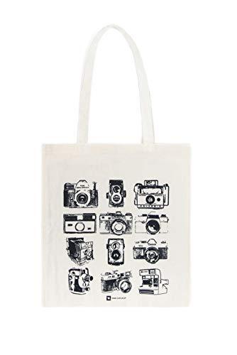 Galeria LueLue Baumwolltasche, Tote Bag, Baumwolle Bio, Handgemacht, Fotografie - Analoge Kamera, Zenit, Canon, Polaroid, Kamera Obscura, Teller Vintage Fotografie