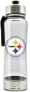 NFL Pittsburgh Steelers 20oz Clip-On Clear Plastic Water Bottle