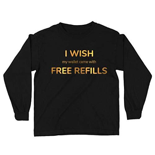 lepni.me Camiseta para Niño/Niña Ojalá mi Billetera tuviera recambios Gratis. (7-8 Years Negro Multicolor)