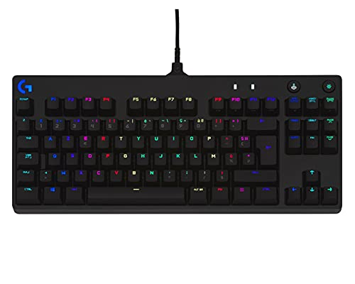 Logitech G PRO TKL Tenkeyless Clavier Gaming Mécanique, Conception Portable sans Pavé numérique, câble Micro-USB...
