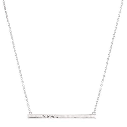 Silpada 'Dotted Line' Pendant Necklace with Crystals in Sterling Silver, 18' + 2'