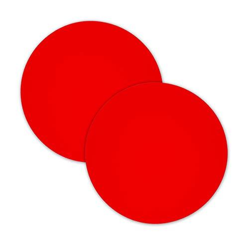 2 tappetini multiuso in silicone per forno a microonde, 30,5 cm, antiaderenti, in silicone, tappetino per forno a microonde, resistente al calore, tappetino per forno a microonde (rosso)