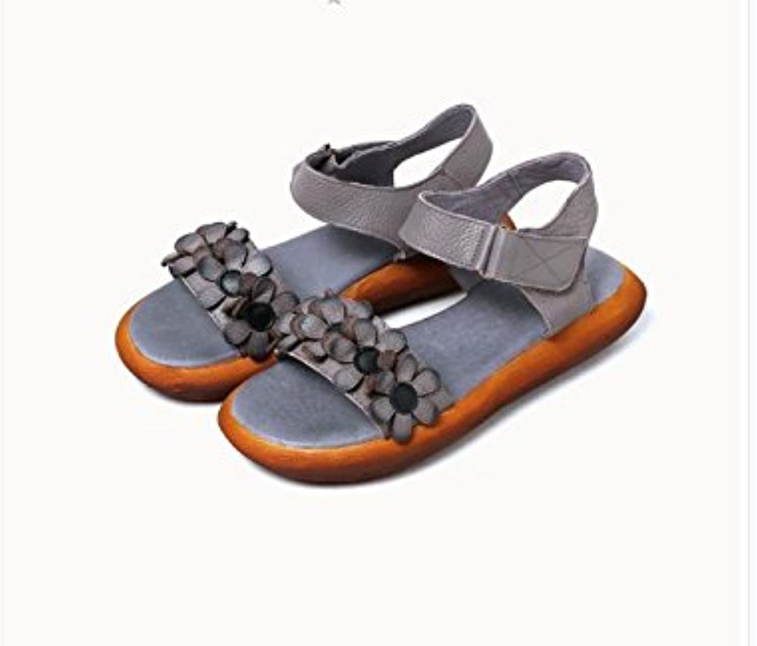 WHW Women's Spring Summer Fall Leatherette Party Evening Wedge Heel Sandals,35,Grey
