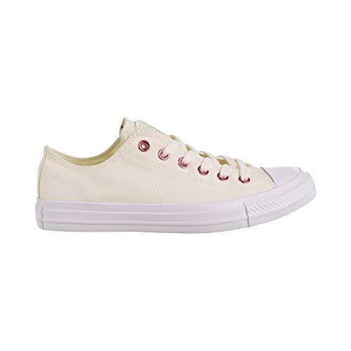Converse Unisex-Erwachsene Chuck Taylor All Stars Sneaker, Weiß (Egret/Rhubarb/White 000), 40 EU