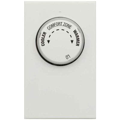 LUX Line Voltage Mechanical Thermostat LV11-1 Stage Heat Only, Single Pole 120/240 VAC - Pkg Qty 5 (Pack of 2)