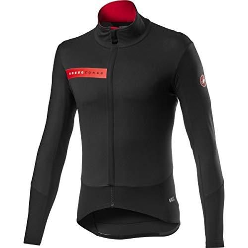 CASTELLI Beta Ros - Chaqueta deportiva para hombre, color negro, talla XL