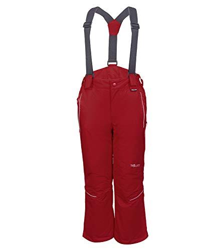 Trollkids Kinder wasserdichte Skihose/Schneehose Holmenkollen, Rot, Größe 176