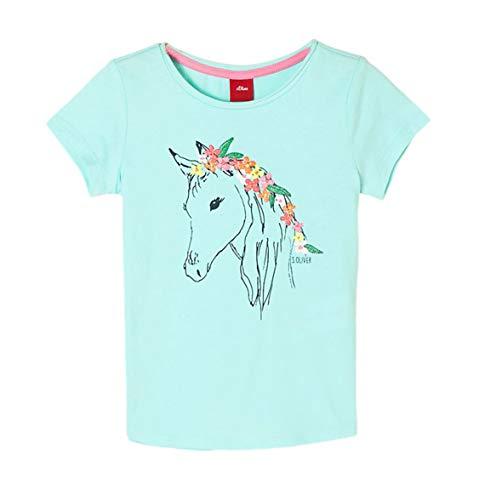 s.Oliver Junior Mädchen 403.10.004.12.130.2038162 T-Shirt, 6006 Ultramarin Blau, 104/110/REG
