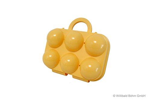 Eierträger 6-fach, pastell-gelb - Sonja-PLASTIC - Made in Germany