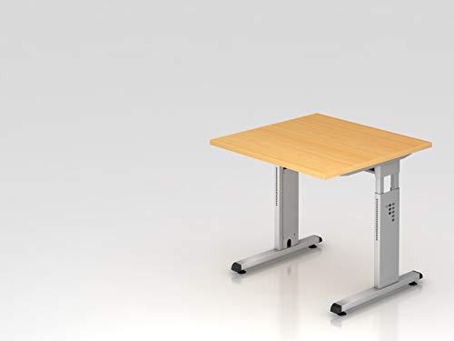 'HAMMERBACHER tavolo scrivania serie 'O, modello OS 08, faggio Case in acciaio argento (RAL 9006) con