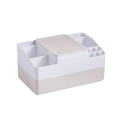 XYZMDJ Caja de Almacenamiento de Escritorio del lápiz Labial Cosméticos Caja de Almacenamiento de la Piel Cuidado del Producto Máscara Acabado Cuadro Dresser a Prueba de Polvo Espejo Shelf