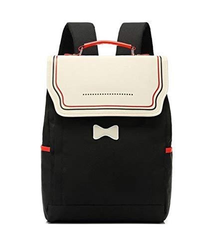 Loisir Imprimé Daypack Multicouche Papeterie éCole Sac Campus Student Sac à Dos Professionnel RéSistant à l'eau De Zipper Leisure Design Confortable RéSistant à l'usure,Black