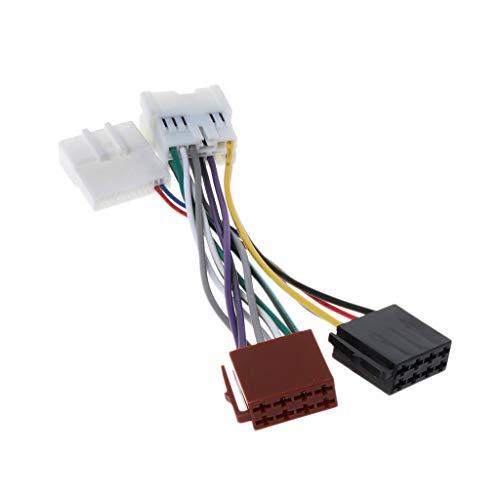 YOFO Adapterkabel 12-polig ISO-Verkabelung für Autoradio Radio Stereo